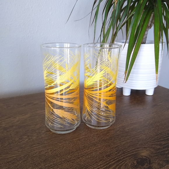 Vintage Libbey Golden Wheat Tall Tumblers